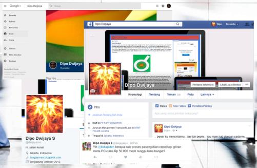 Ilustrasi Trik Menghemat Bandwidth Saat Mengakses Facebook, Twitter, Dan Google+ - Dipopedia
