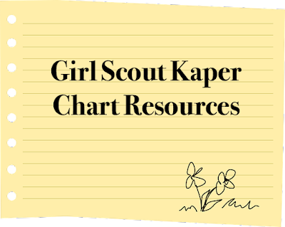 Resources for Girl Scout leaders on how to create a Kaper chart