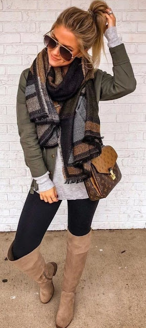e present our 21 different ideas of how to wear a scarf in this season