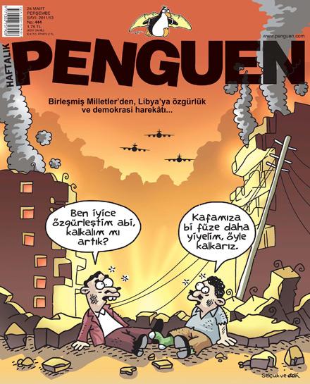 libya demokrasi karikatür