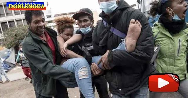 Policía de Chile desalojó a la fuerza a los migrantes venezolanos indocumentados