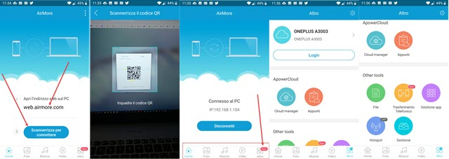 airmore per android