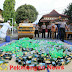 Hasil Gelaran Operasi Polres Batang Memusnahkan Ribuan Botol Miras
