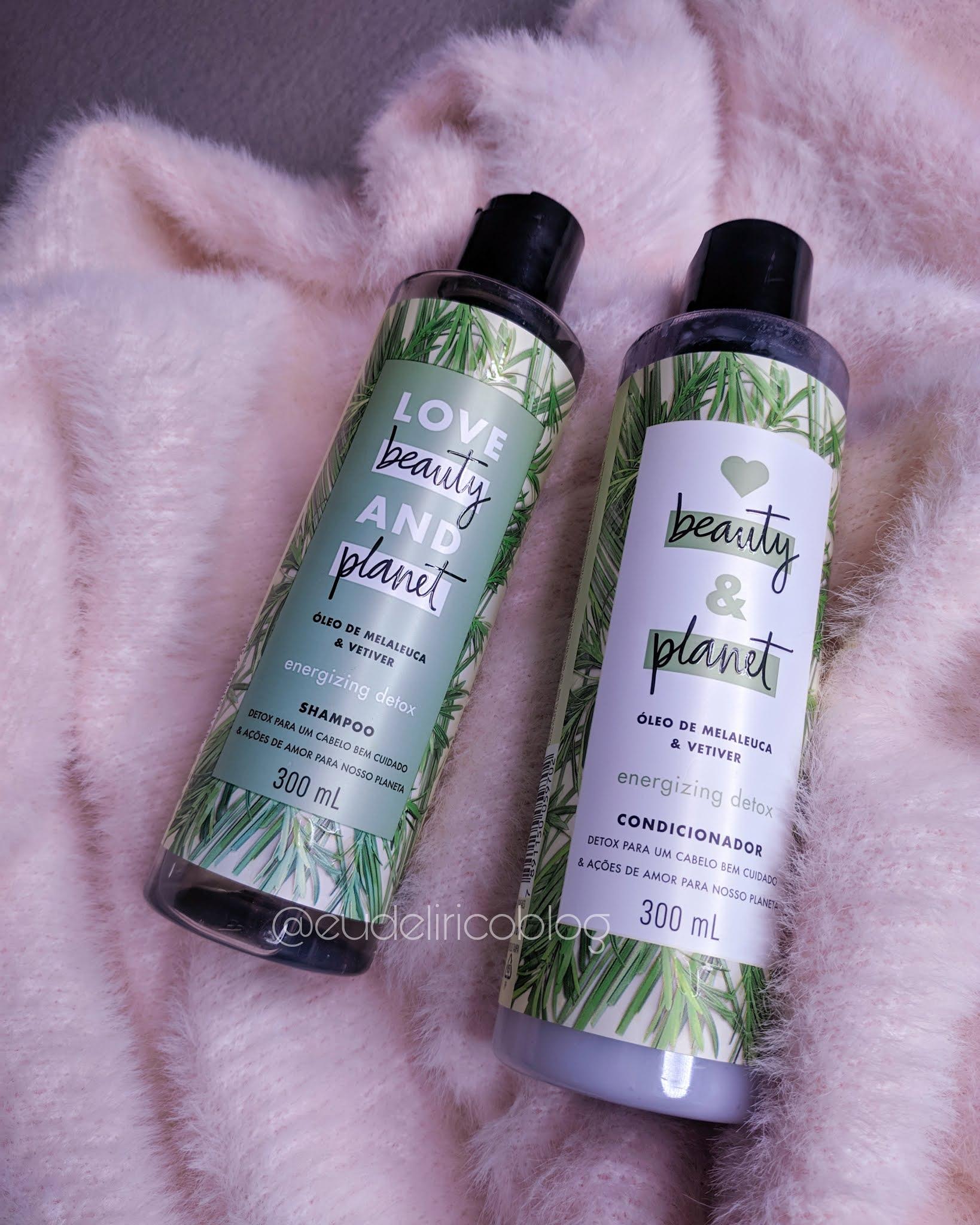 Shampoo e Condicionador com Óleo de Melaleuca & Vetiver da Love Beauty and Planet