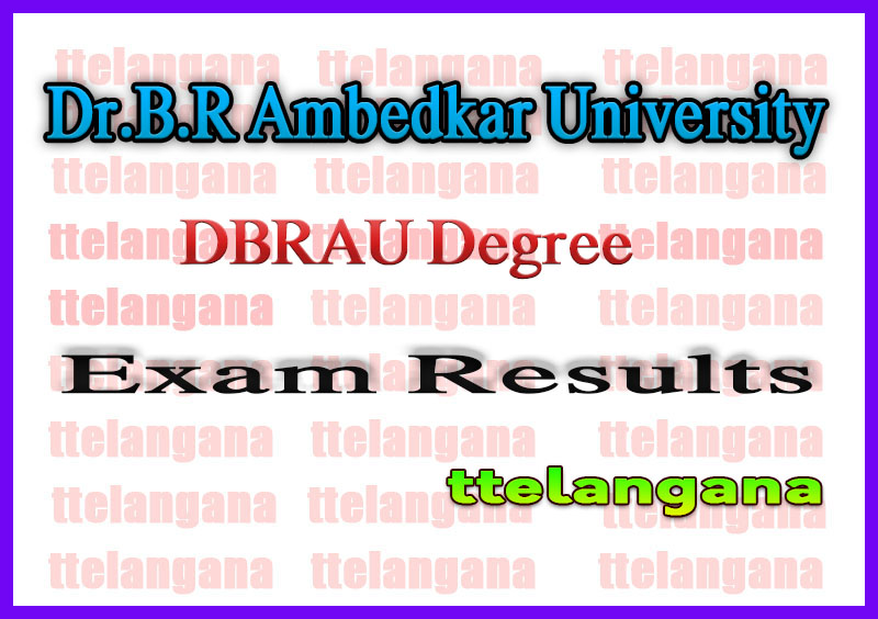 DBRAU Dr.B.R Ambedkar University Re-Exam Improvement UG 1st 2nd 3rd Result