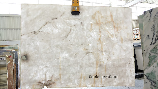 Lumix White Quartzite Slabs NYC