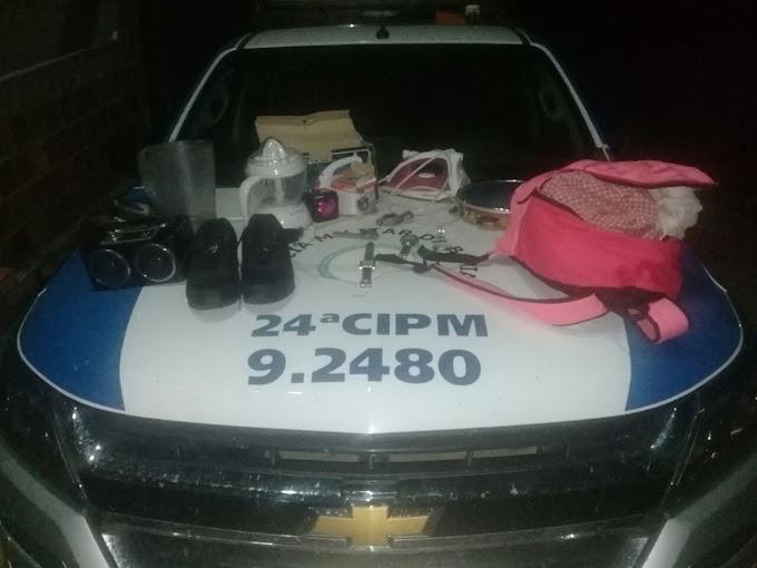 Policiais da 24ª CIPM prendem homem por arrombamento e furto em Saúde