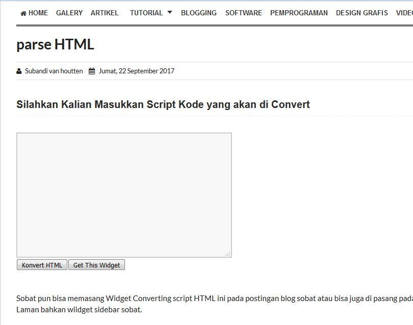 Cara Convert Script Kode HTML part01