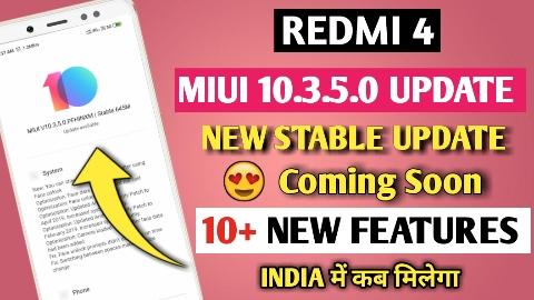 redmi 4 MIUI 10.3.5.0 global stable update, Redmi 4 New stable update, Redmi 4 MIUI 10.3.5.0 dark mode kab melaga