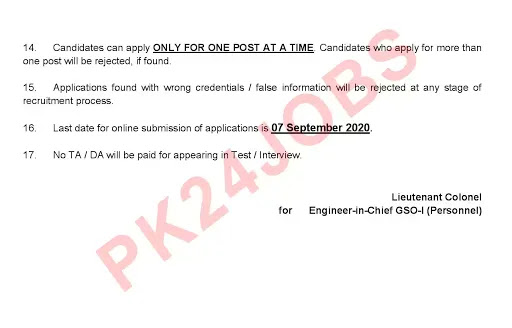 Army MES Jobs August 2020 Apply Online Advertisement No 6