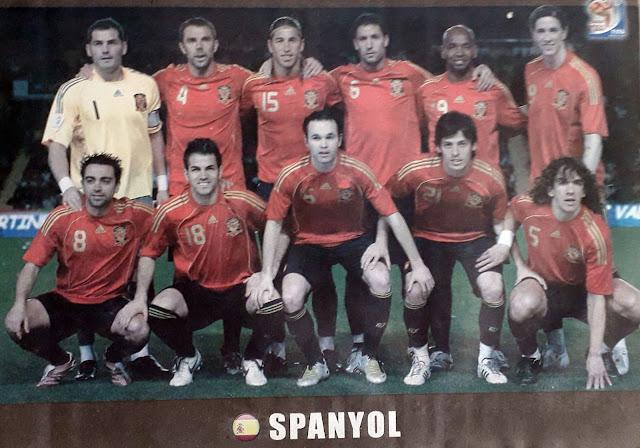 SPAIN TEAM SQUAD 2010
