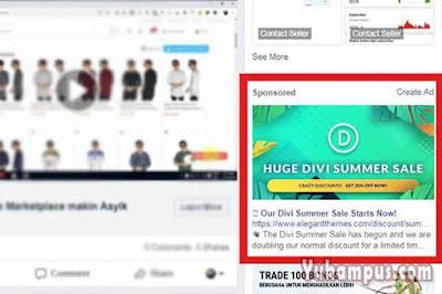 iklan kolom kanan facebook
