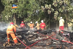 4 Rumah Ludes Terbakar, Akibat Konsleting Listrik