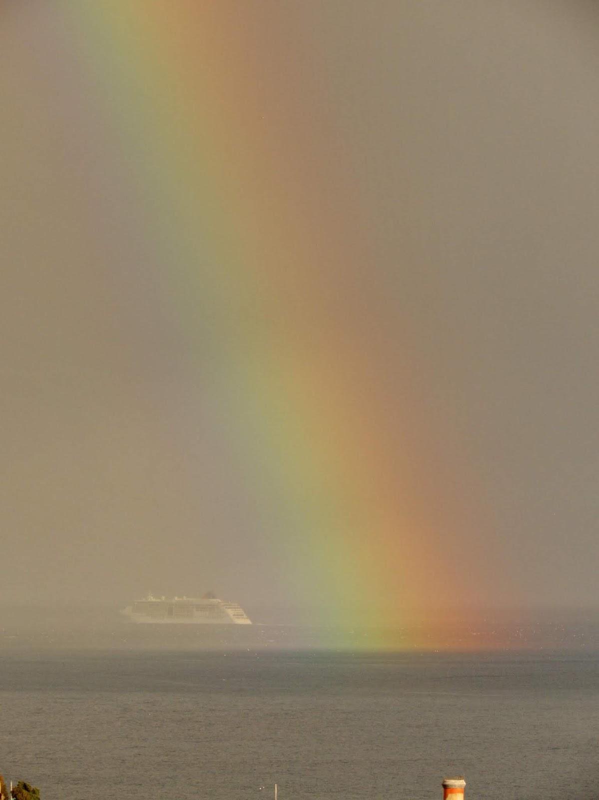 arco-íris na despedida do Europa 2