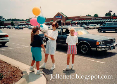 June 1993 Wendy and girls greeting foreign exchange students  http://jollettetc.blogspot.com