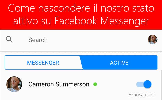 Come nascondere il tuo stato attivo su Facebook Messenger