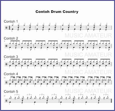 gambar notasi drum musik country