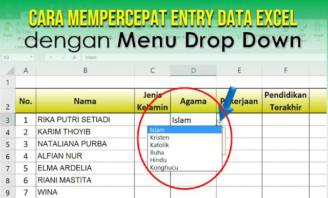 Cara Membuat Menu Drop Down pada Excel