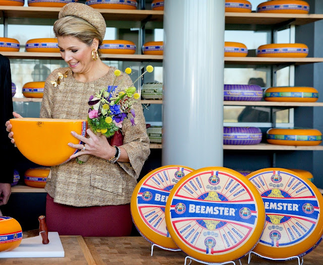 Queen Maxima of The Netherlands opens the Lustrum Beursvloer of the Waaier Foundation