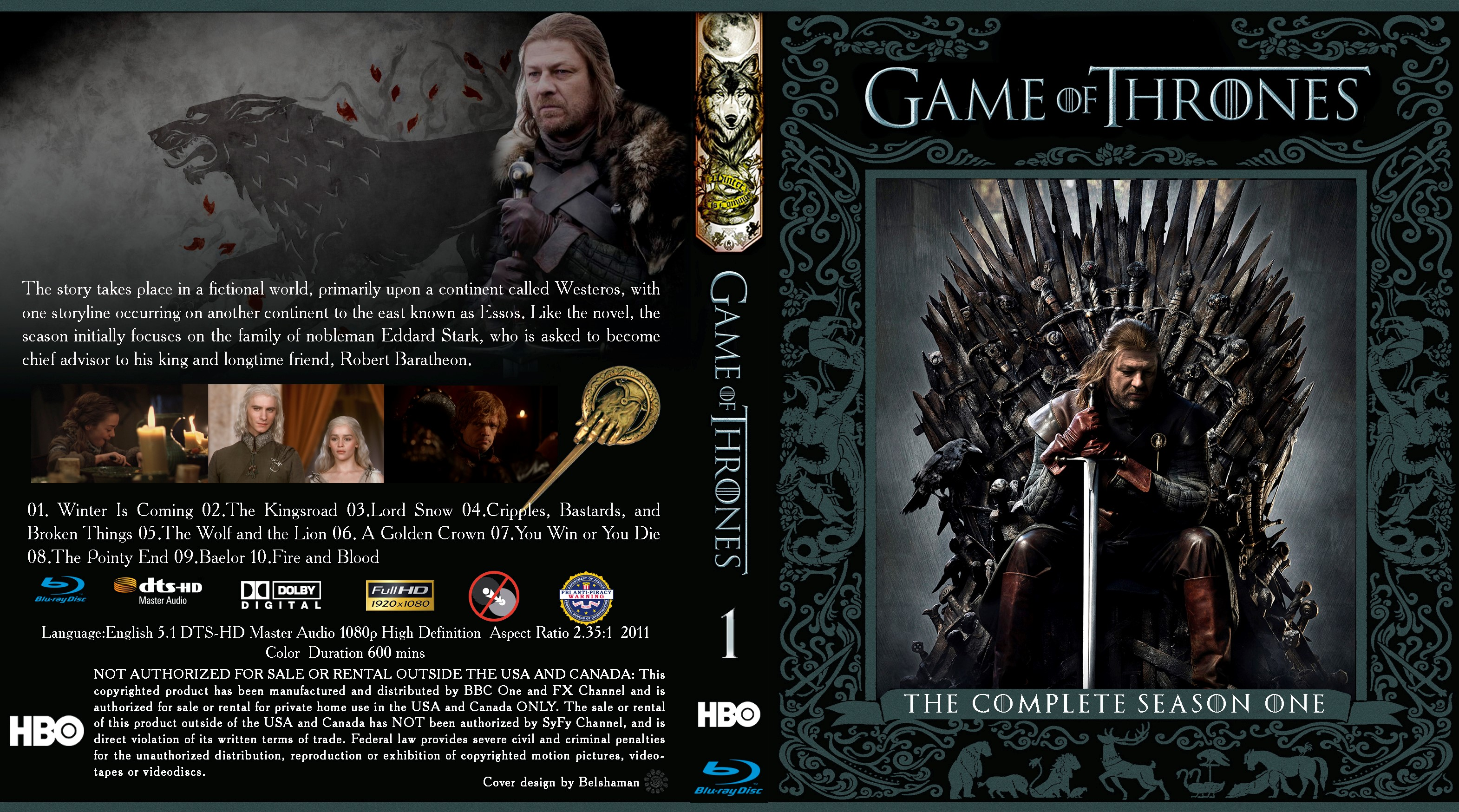 Game Of Thrones Season 1 Bluray Cover Cover Addict Free
