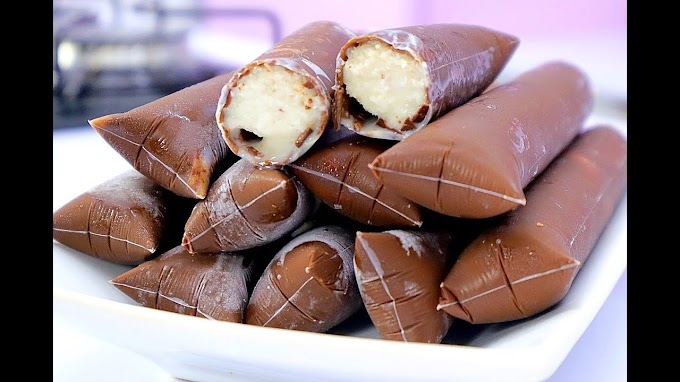 Dica fazer Geladinho com casquinha de chocolate