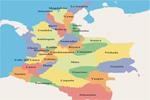 Mapa de los departamentos de Colombia