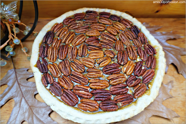 Chocolate Bourbon Pecan Pie sin Cocer