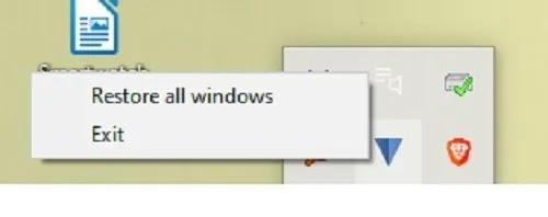 كيفية إرسال برامج Windows 10 إلى علبة النظام Traymond