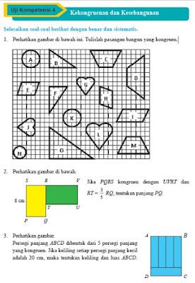 Kunci Jawaban Matematika Kelas 9 Uji Kompetensi 4 Kekongruenan dan Kesebangunan Halaman 261, 262, 263, 264, 265, 266, 267, 268