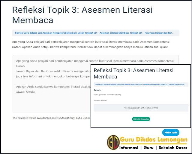 Perayaan Belajar dan Refleksi Topik 3: Asesmen Literasi Membaca