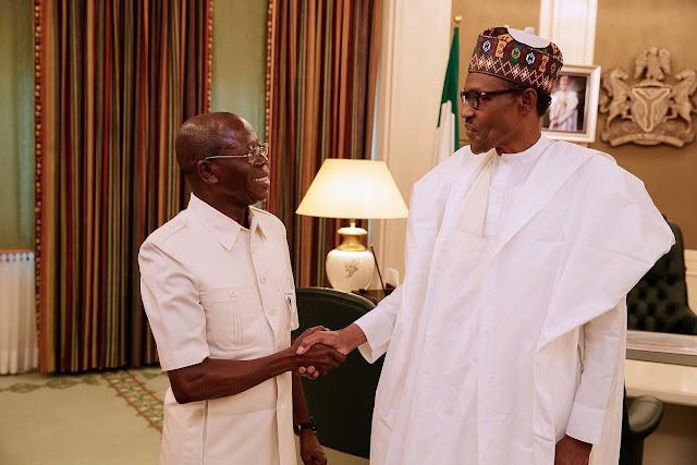 President Buhari sends message to Oshiomhole