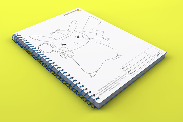 printable Anime detective pikachu pokemon template outline coloriage Blank coloring pages book pdf pictures to print out for kids to color fun colouring sheets