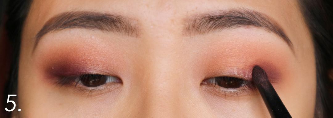 Purple Smokey Eye Pictorial using Makeup Geek Cosmetics Eyeshadows using an eyeshadow brush from Ebay
