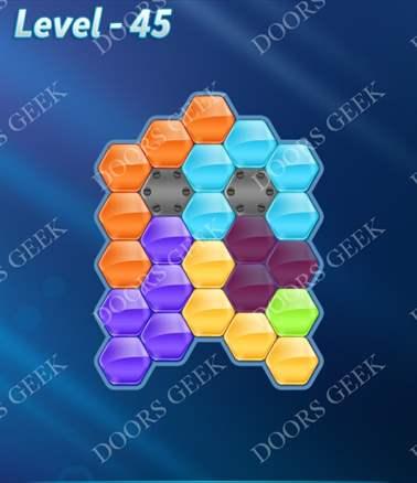 Block! Hexa Puzzle [Intermediate] Level 45 Solution, Cheats, Walkthrough for android, iphone, ipad, ipod
