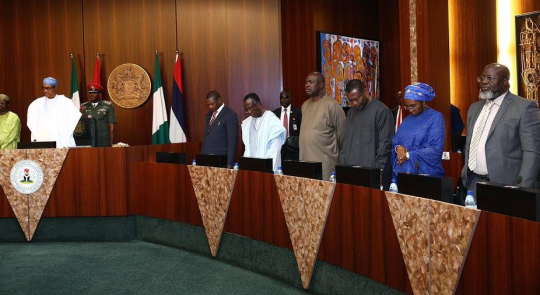Photos from the Federal Executive Council meeting
