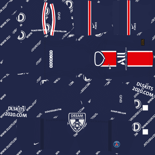 Paris Saint-Germain kits 2020-2021 Nike - Kits Dream League Soccer 2020 (Home)
