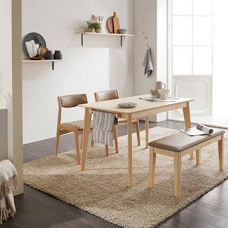 Bàn ghế Naju thiết kế theo xu hướng tiện dụng phong cách Hiện Đại của Bàn ghế Hàn Quốc Hiện Đại