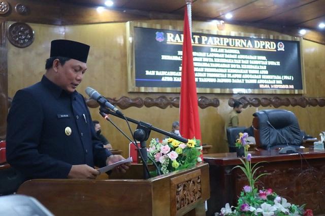 Wabup Tanjabbar Hadiri Paripurna Pertama Penyampaian Nota Keuangan dan Raperda APBD 2022
