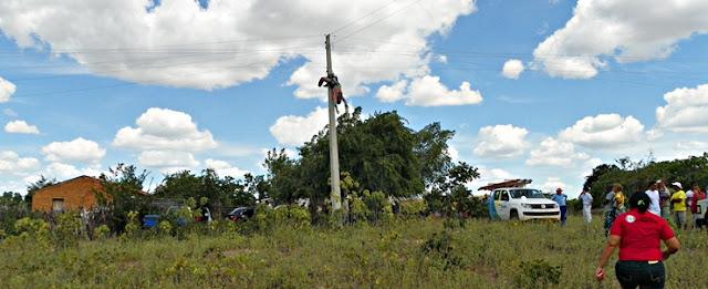 Servidor da Eletrobras morre em eletrocutado na zona rural de Jaicós