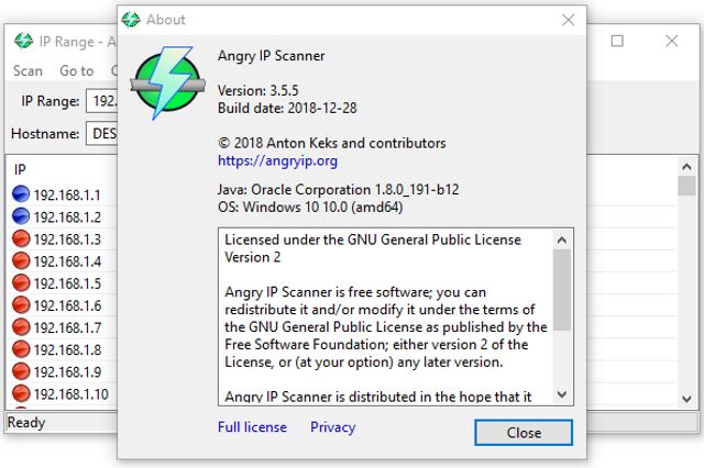 Angry IP Scanner 3.5.5 (64-bit)