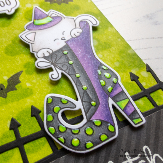 A Be-Witching Halloween Card by Zsofia Molnar | Boo Hoo and Witchy Newton Stamp Sets by Newton's Nook Designs #newtonsnook #handmade