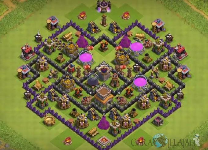 Base Trophy TH 8 di Clash Of Clans Terbaru Tipe 21