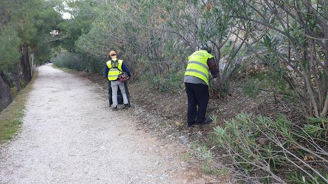 Ναύπλιο: Εργασίες καθαριότητας στην διαδρομή Αρβανιτιά - Καραθώνα