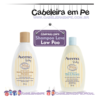 Shampoo Condicionante Suave e Sabonete líquido da Cabeça aos Pés - Aveeno Baby (Liberados para Low Poo)