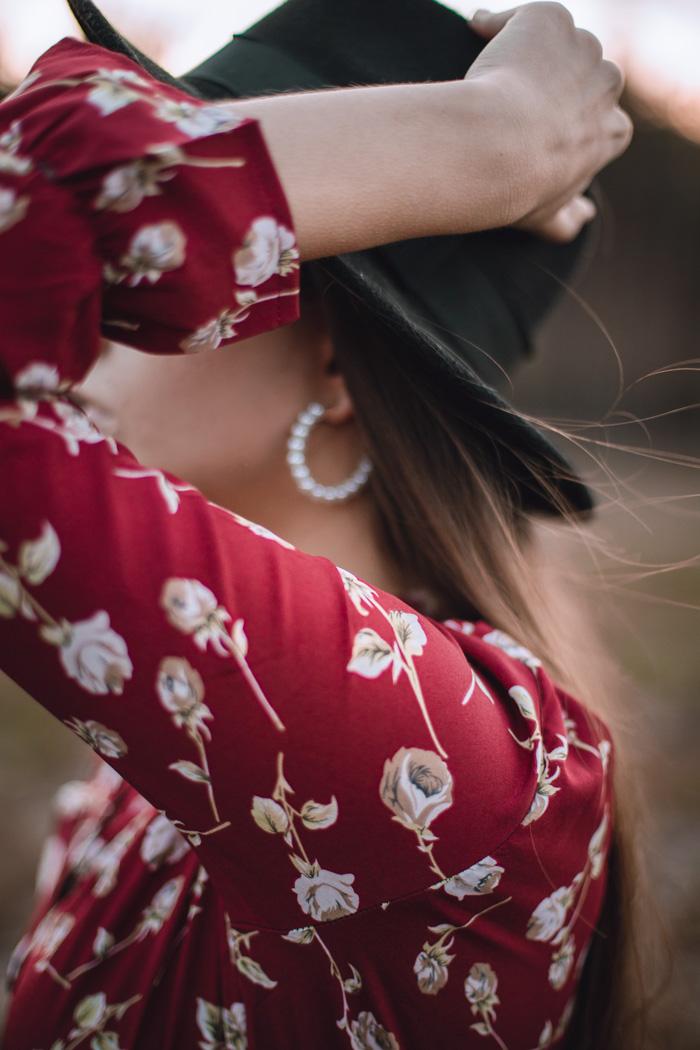 jesienna styliacja z kapeluszem