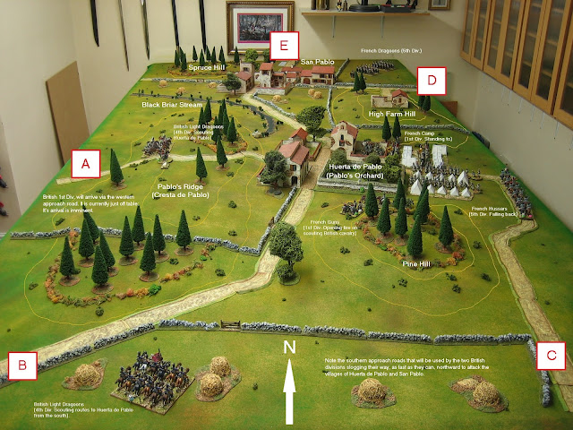 The Battle of Huerta de Pablo - Battle report, turn 1.