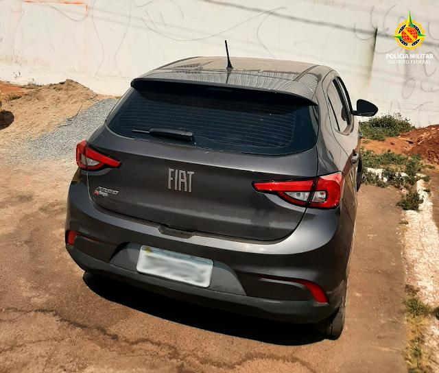 A PMDF recupera carro roubado no Gama