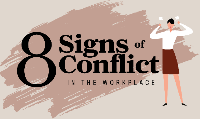 8 Signs of Conflict in the Workplace #infographic