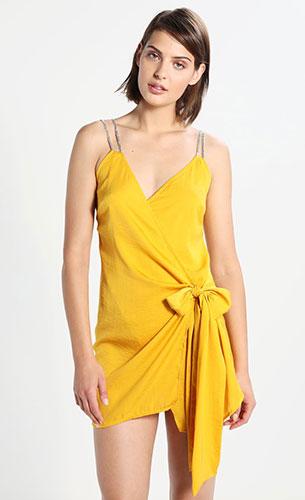 vestido amarillo Missguided Zalando