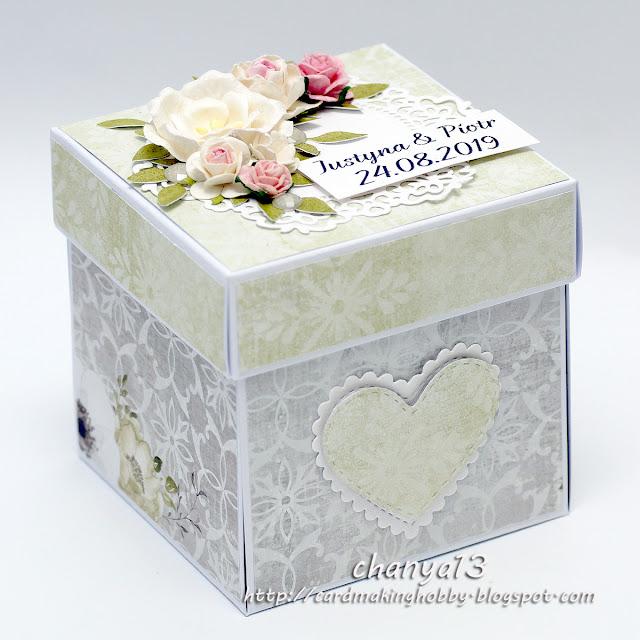415. Ęxploding box ślubny z mostkiem